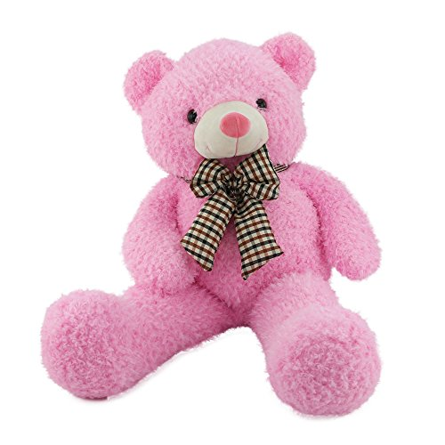 WEWILL Giant Huge Cuddly and Softly Stuffed Animals Plush Teddy Bear with Bow-knot for Valentine's Day Birthday Children's Day Gifts, 32-Inch, Pink for $<!--$29.99-->