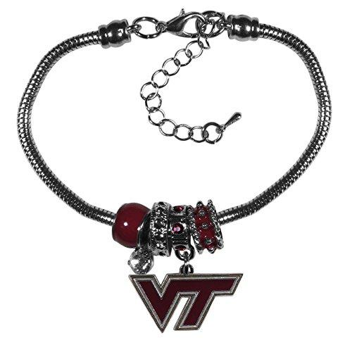 Siskiyou NCAA Virginia Tech Hokies Euro Bead Bracelet