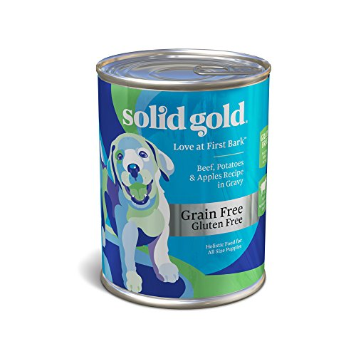 Solid Gold Love At First Bark Beef, Potato & Apple Puppy Recipe; Natural, Holistic Grain and Gluten Free Wet Puppy Food with Superfoods; 13.2 oz, case of 12 (13.2 Ounce Puppy Food)