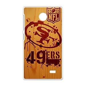 SANLSI NFL San Francisco 49ers Logo Cell Phone Case for Nokia Lumia X