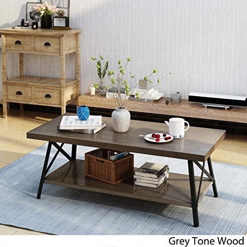 Christopher Knight Home Camaran Industrial Wood Coffee Table by Grey 141[並行輸入]
