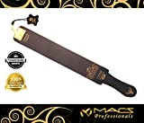 Macs Razor Products Professional Quality Sharpening Strop Made of Real Leather 3'' Wide and 22'' Long Macs -2011G