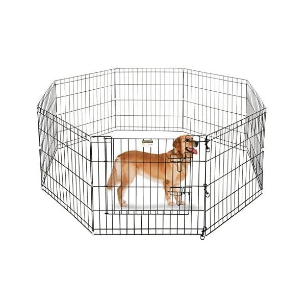 Aleko SDK-36B Dog Playpen Pet Kennel Pen Exercise Cage Fence, 8-Panel Click on image for further info.