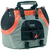 Petego Universal Sport Bag Plus Pet Carrier, Orange/Silver, My Pet Supplies