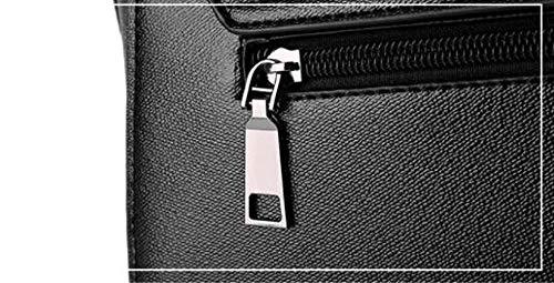 A colore Tracolla Medium Messenger Borsa Da nero Viola Beige In Pelle Moontang Donna Mano Dimensione Ox5Uannw