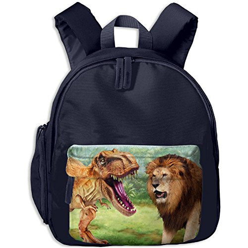 T-rex Safety Leash - Beach Surfers Toddler Kid Dinosaur T-Rex VS Lion King School Bag Bookbag For Boys Girls 1-6 Years Old