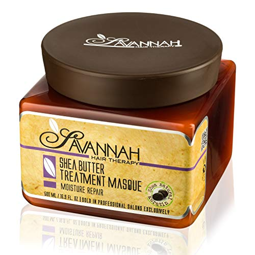 - Savannah Hair Therapy Treatment Mask - Shea Butter, Cotton and Silk Protein and Vitamin B6 - For Dry and Damaged Hair. Sodium Chloride and Sulfate Free. 16.9 oz
