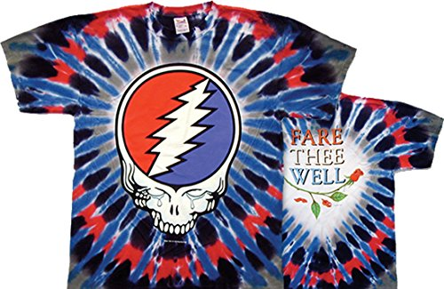 Tie Dyed Shop Fare Thee Well Grateful Dead Tie Dye T Shirt-XLarge-Multicolor (Tie Dyed Shirt)