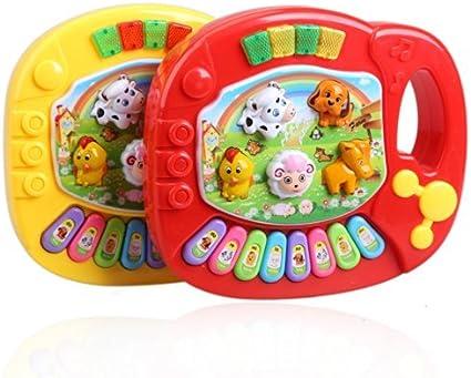 Musical Educational Animal Farm Piano Developmental Music Toys for Baby Kids UK