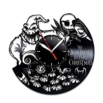 nightmare before christmas oogie boogie design vinyl record wall clock unique gifts for him her gift