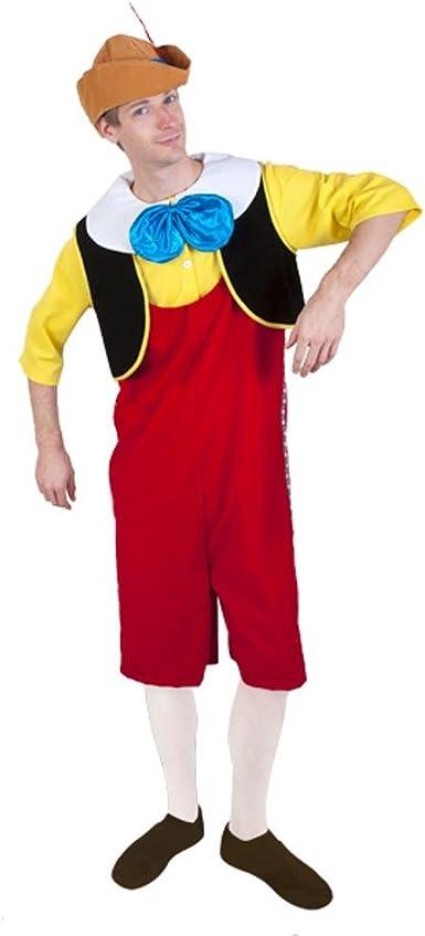 Adultos completo, diseño de Pinocho disfraz (Tamaño: Estándar 44 ...