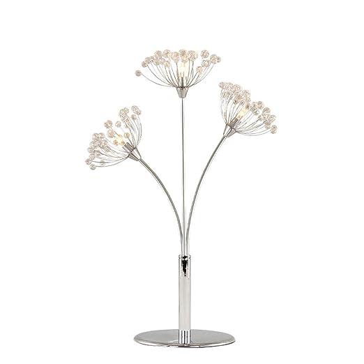 HOIHO 3 Luces LED Lámpara De Mesa De Cristal Decoración De Flor ...