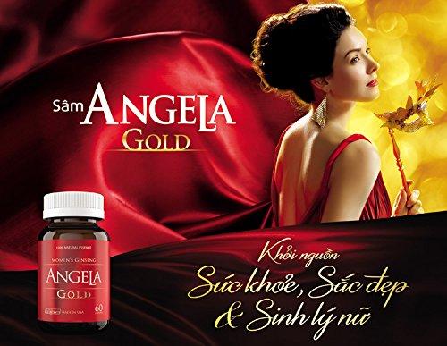 04 box * 60 Capsule ANGELA GOLD Ginseng - Women Estrogen, Progesterone, Testosterone - Sexual Health