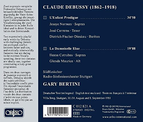 CLAUDE DEBUSSY - Lenfant Prodigue / la Damoiselle Elue - Amazon.com Music