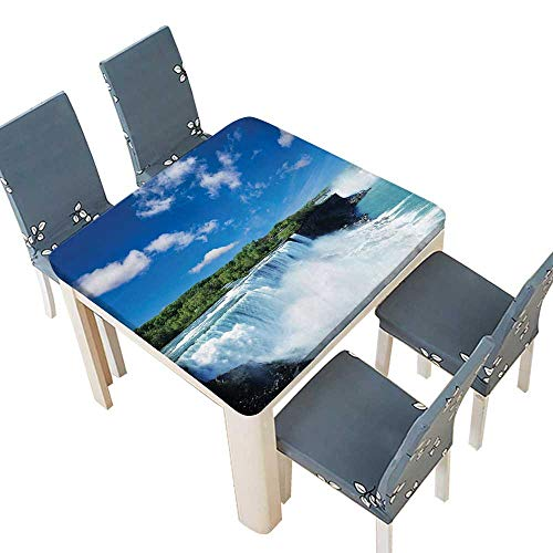 (PINAFORE Polyesters Tablecloth Decor Collection Big Powerful Niagara Waterfalls Flowing Fastly Dreamy Wild Space Photo Bl Wedding Birthday Baby Shower Party 37.5 x 37.5 INCH (Elastic)