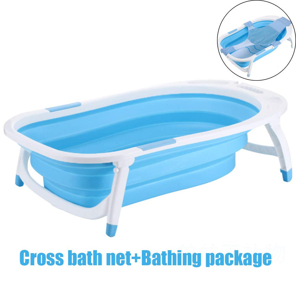 bluee BJiMany Foldable portable dog cat bathtub, expandable beauty washing accessories for small and medium pets,bluee,C