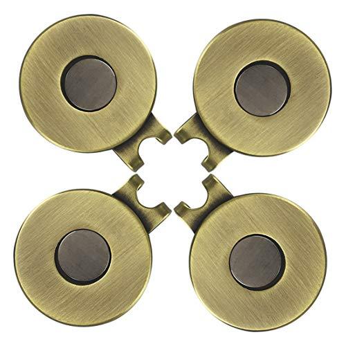 PINMEI Magnetic Standard Golf Ball Mark Hat Clip (4 Antique Brass) ()