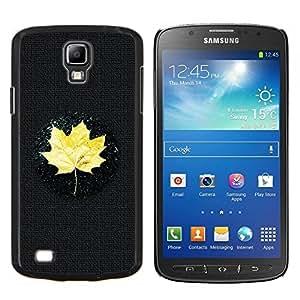 EJOOY---Cubierta de la caja de protección para la piel dura ** Samsung Galaxy S4 Active i9295 ** --Amarillo hoja de arce