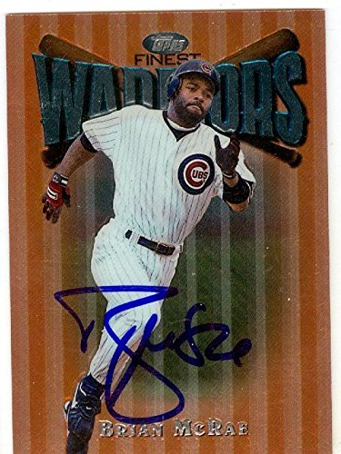 Brian Mcrae Autographed Baseball Card Chicago Cubs 1997