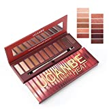 Red Eyeshadow Palette 12 Colors Matte & Shimmer Eye shadow Longlasting Waterproof Cosmetic Makeup kit, 3.5oz