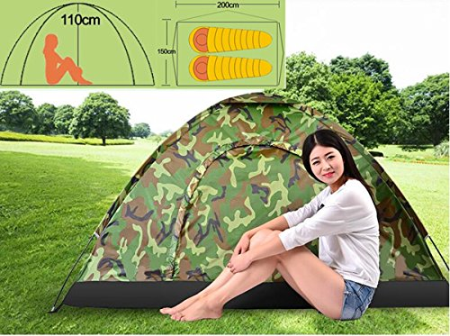 The Wolf Moon® Folding Camouflage Dome Tent 2 Person 3 Season Easy Setup Outdoor Tent