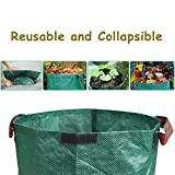Yard Waste Bags,2PCS Reusable and Collapsible Garden Grow Bag Yard Lawn Leaf Waste Bags Gardening Containers