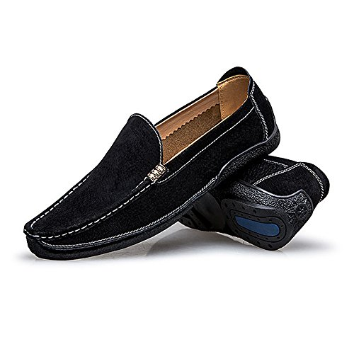 da pelle da Handwork scamosciata uomo Nero Nero Suture Otprdirect Shoes barca Mocassini in Mocassini guida pelle Mocassini on Flat Business 7 Scarpe Color da MUS Fashion Slip vera Dimensione 5 OnzXzP5q