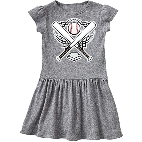 inktastic Baseball Player Team Sports Logo Toddler Dress 2T Heather Grey 10b3e (Team Player Logo)