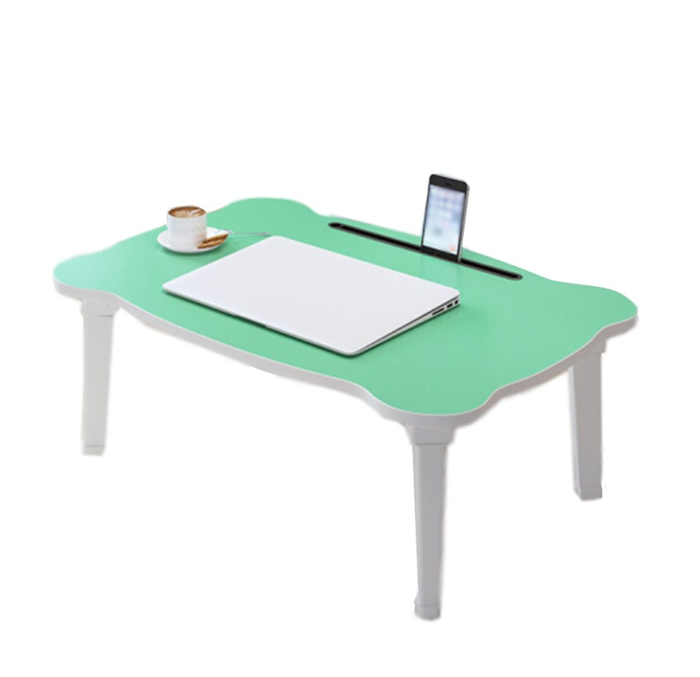 シンプルでかわいい怠惰なミニコンピュータデスク60 * 40 * 28cmを書いて折り畳みテーブル学生寮 (色 : B) B07DZYGHLX B B