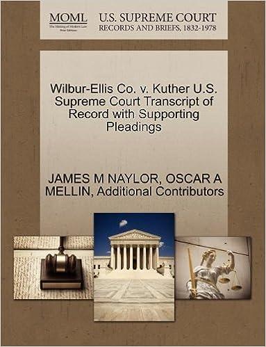 Wilbur-Ellis Co  v  Kuther U S  Supreme Court Transcript of