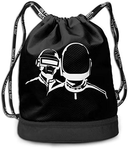 ジムサックバッグ スポーツバック アウトドア マルチバッグ ナップザック ダフトパンクパンク 巾着袋 靴入れ バックパック ナップザック 体操服収納 運動 旅行 部活用 男女兼用 軽量 防水
