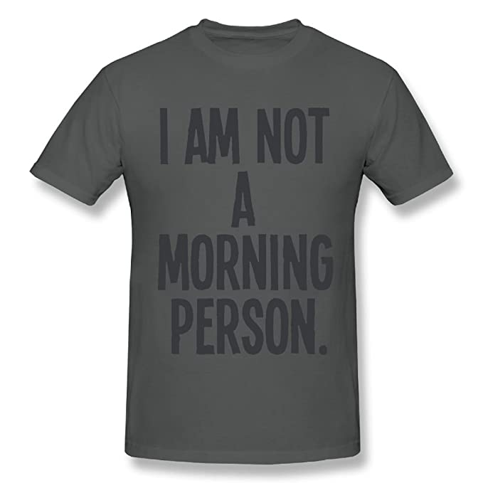 b71e9a42f2 Amazon.com: I Am Not A Morning Person Funny Grumpy Mens & Ladies ...