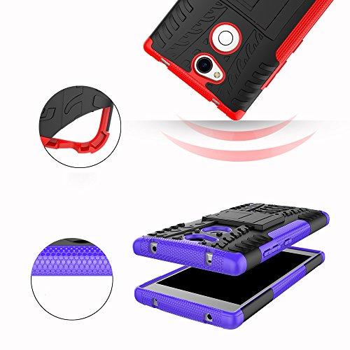 OFU®Para Sony Xperia L2 Smartphone, Híbrido caja de la armadura para el teléfono Sony Xperia L2 resistente a prueba de golpes contra la lucha de viaje accesorios esenciales del teléfono-naranja rojo