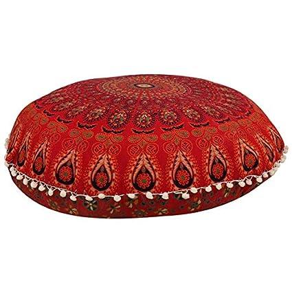 GANESHAM - Almohada de suelo con mandala india bohemia para ...
