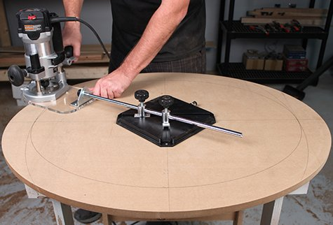 Oval & Circle Cutter With Vacuum Base