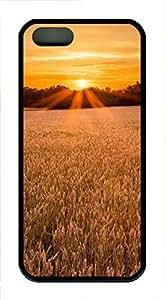 iPhone 5 5S Case Landscapes sunset 1 TPU Custom iPhone 5 5S Case Cover Black