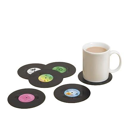 Compra Kentop 6 Retro Vinyl Tocadiscos Bebidas posavasos ...