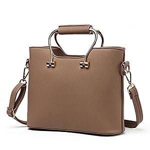 LOMOL Newest Womens Fashion Sweet Elegant Leather Tote Top-handle Handbag Shoulder Bag(C7)