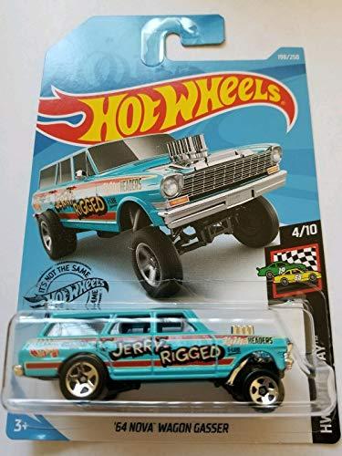 [해외]Hot Wheels Race Day 410 `64 Nova Wagon Gasser 198250 Blue / Hot Wheels Race Day 410 `64 Nova Wagon Gasser 198250, Blue