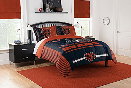 - Officially Licensed NFL Chicago Bears Safety Full/Queen Comforter and 2 Sham Set