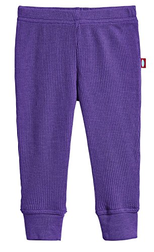 City Threads Baby Boys and Baby Girls Soft Cotton Thermal Cuffed Baby Newborn Infants Pants Joggers for Sensitive Skin or SPD Sensory Friendly Clothing, Purple, 0/3 m -