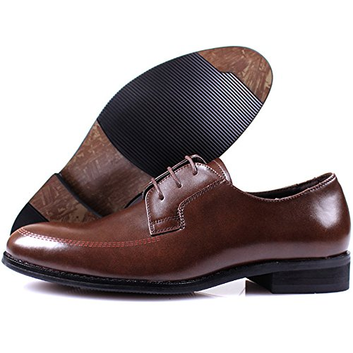 Fashion New Men Lace Formal Brown Dress Mooda Oxfords Leather Shoes Up Casual wgqOgAT4