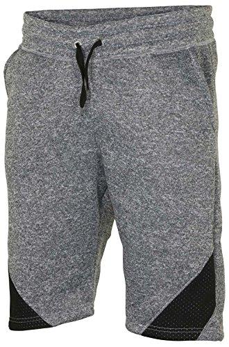 True Rock Men's Jackson Marl/Meshed Fleece Casual Shorts-Grey ()
