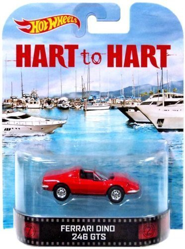 Hot Hot Hot Wheels Hart to Hart Ferrari Dino 246 GTS Die-Cast Retro Entertainment Series by Hot Wheels f66298