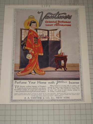 1920 Vantine & Co. Oriental Perfumes with Geisha Girl - Perfume ()