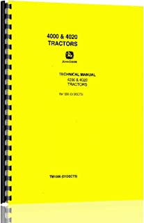 new service manual for john deere tractor 4020 0633632512100 rh amazon com John Deere 4020 History John Deere 4620