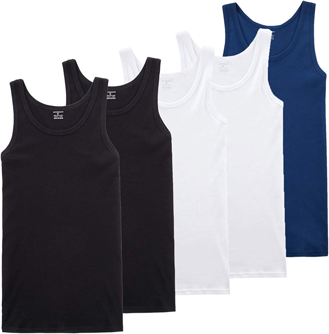 Farchat Men Vest Tops 5 Piece Packing Comfortable Cotton Multiple Colors and Sizes