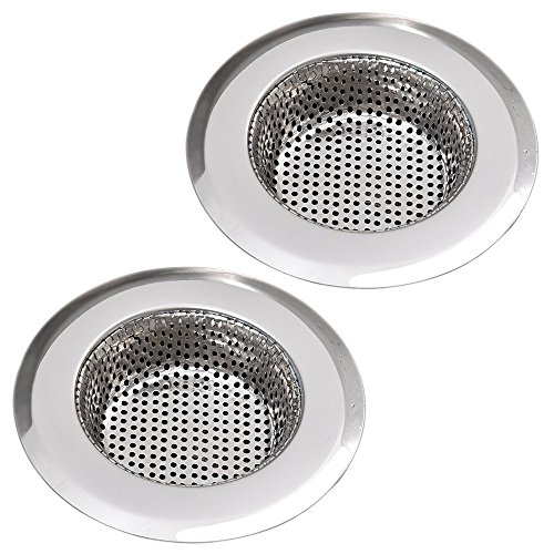 Stainless Steel Kitchen Sink Strainer by AULife - Large Wide Rim 4.5