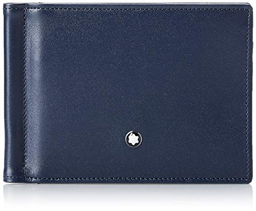Montblanc Meisterstuck Men's Leather Wallet 6cc with Money Clip 114548