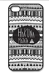 Hakuna Matata Iphone 4 4s Case Cover Ui149 ,Apple Plastic Shell Hard Case Cover Protector Gift Idea by mcsharks